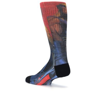 Image of Blue Red X-Men Wolverine Men's Casual Socks (side-2-back-14)