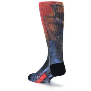 Image of Blue Red X-Men Wolverine Men's Casual Socks (side-2-back-15)