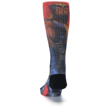Image of Blue Red X-Men Wolverine Men's Casual Socks (back-17)