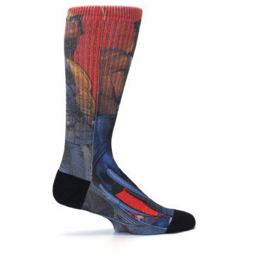 Image of Blue Red X-Men Wolverine Men's Casual Socks (side-1-24)