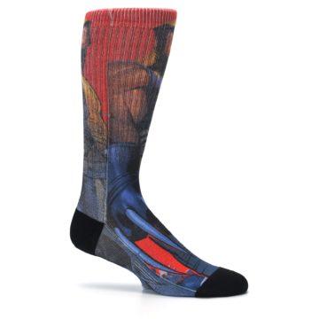 Image of Blue Red X-Men Wolverine Men's Casual Socks (side-1-25)