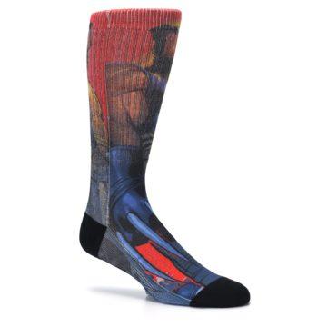 Image of Blue Red X-Men Wolverine Men's Casual Socks (side-1-26)