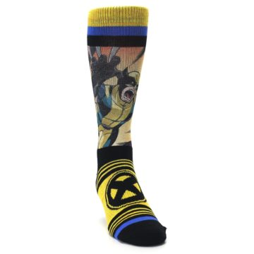 Image of Yellow Black X-Men Wolverine Sublimated Men's Casual Socks (side-1-front-03)
