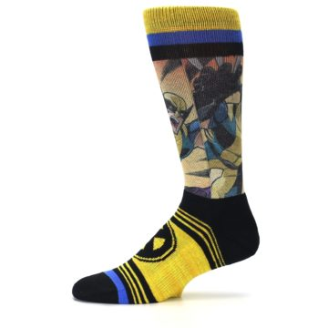 Image of Yellow Black X-Men Wolverine Sublimated Men's Casual Socks (side-2-11)