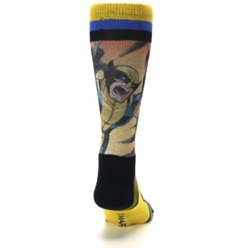 Image of Yellow Black X-Men Wolverine Sublimated Men's Casual Socks (back-19)