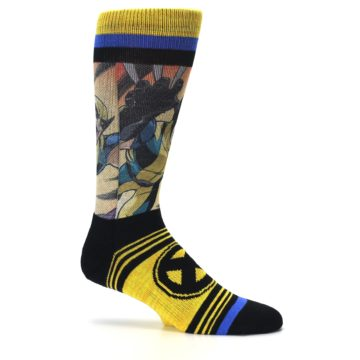 Image of Yellow Black X-Men Wolverine Sublimated Men's Casual Socks (side-1-25)