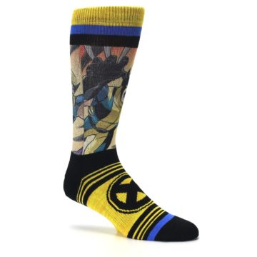 Image of Yellow Black X-Men Wolverine Sublimated Men's Casual Socks (side-1-26)