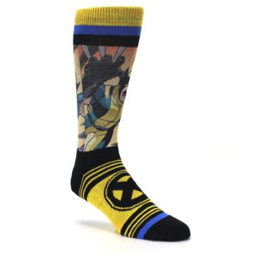 Image of Yellow Black X-Men Wolverine Sublimated Men's Casual Socks (side-1-27)