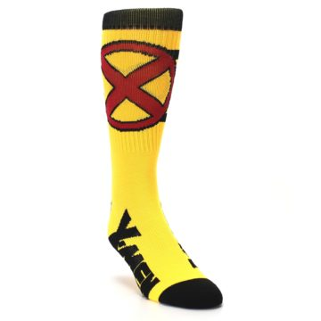 Image of Yellow Red Black X-Men Wolverine Suit Up Men's Casual Socks (side-1-front-02)