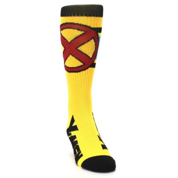 Image of Yellow Red Black X-Men Wolverine Suit Up Men's Casual Socks (side-1-front-03)