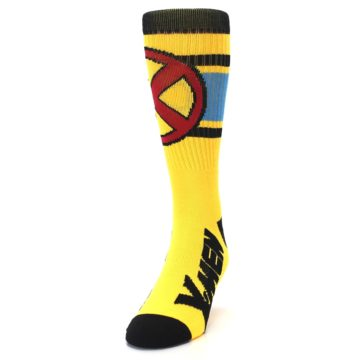 Image of Yellow Red Black X-Men Wolverine Suit Up Men's Casual Socks (side-2-front-06)