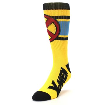 Image of Yellow Red Black X-Men Wolverine Suit Up Men's Casual Socks (side-2-front-07)