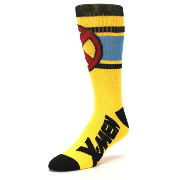 Image of Yellow Red Black X-Men Wolverine Suit Up Men's Casual Socks (side-2-front-08)