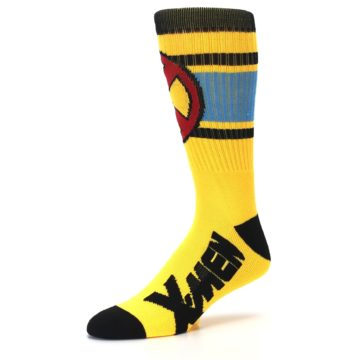 Image of Yellow Red Black X-Men Wolverine Suit Up Men's Casual Socks (side-2-09)