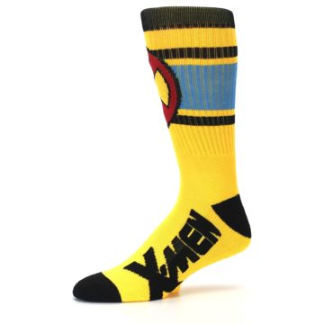 Image of Yellow Red Black X-Men Wolverine Suit Up Men's Casual Socks (side-2-10)