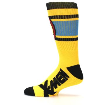 Image of Yellow Red Black X-Men Wolverine Suit Up Men's Casual Socks (side-2-12)