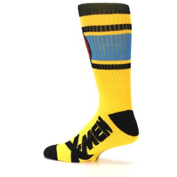Image of Yellow Red Black X-Men Wolverine Suit Up Men's Casual Socks (side-2-13)