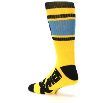 Image of Yellow Red Black X-Men Wolverine Suit Up Men's Casual Socks (side-2-back-14)
