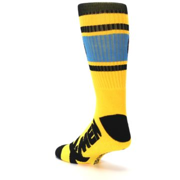 Image of Yellow Red Black X-Men Wolverine Suit Up Men's Casual Socks (side-2-back-15)