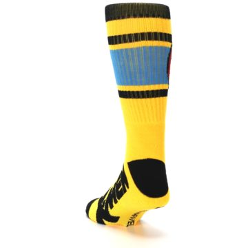 Image of Yellow Red Black X-Men Wolverine Suit Up Men's Casual Socks (side-2-back-16)