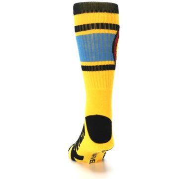 Image of Yellow Red Black X-Men Wolverine Suit Up Men's Casual Socks (back-17)