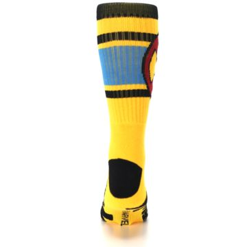 Image of Yellow Red Black X-Men Wolverine Suit Up Men's Casual Socks (back-18)