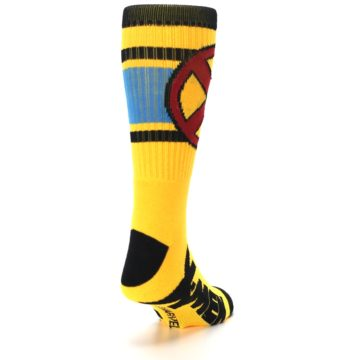 Image of Yellow Red Black X-Men Wolverine Suit Up Men's Casual Socks (side-1-back-20)