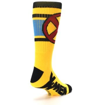 Image of Yellow Red Black X-Men Wolverine Suit Up Men's Casual Socks (side-1-back-21)