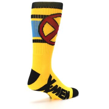 Image of Yellow Red Black X-Men Wolverine Suit Up Men's Casual Socks (side-1-back-22)