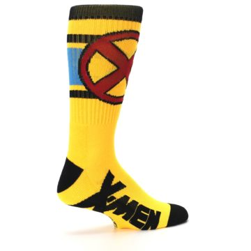 Image of Yellow Red Black X-Men Wolverine Suit Up Men's Casual Socks (side-1-23)