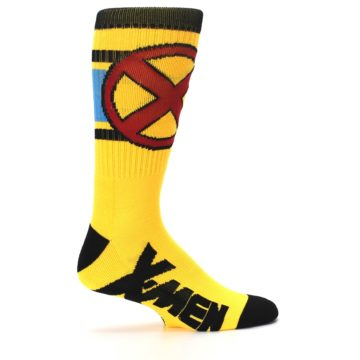 Image of Yellow Red Black X-Men Wolverine Suit Up Men's Casual Socks (side-1-24)