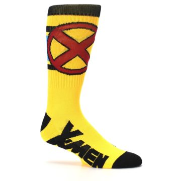 Image of Yellow Red Black X-Men Wolverine Suit Up Men's Casual Socks (side-1-25)
