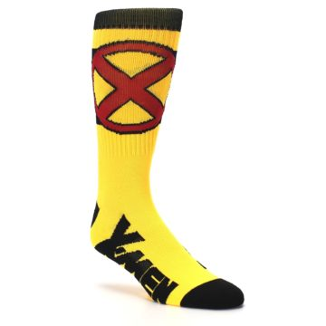 Image of Yellow Red Black X-Men Wolverine Suit Up Men's Casual Socks (side-1-27)