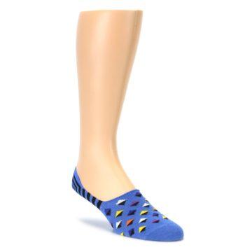 Blue Black Diamond Stripes Mens Liner Socks Happy Socks