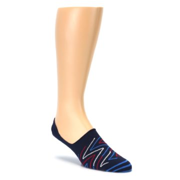 Blue Red Zig Zag Mens Liner Socks Happy Socks