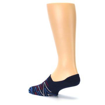 Image of Blue Red Zig-Zag Men's Liner Socks (side-2-back-14)