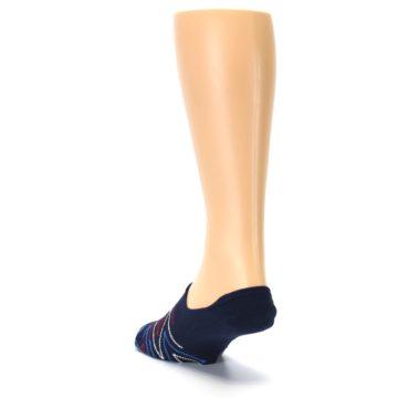Image of Blue Red Zig-Zag Men's Liner Socks (side-2-back-16)