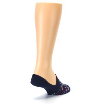 Image of Blue Red Zig-Zag Men's Liner Socks (side-1-back-21)
