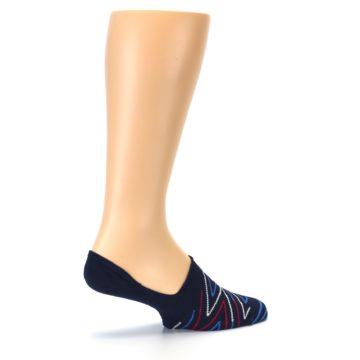 Image of Blue Red Zig-Zag Men's Liner Socks (side-1-23)