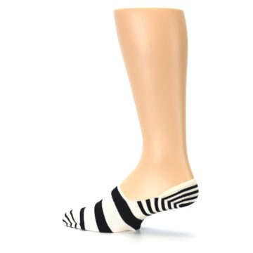 Image of Black White Stripes Men's Liner Socks (side-2-13)