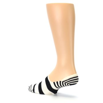 Image of Black White Stripes Men's Liner Socks (side-2-back-14)