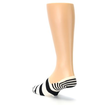 Image of Black White Stripes Men's Liner Socks (side-2-back-15)