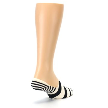 Image of Black White Stripes Men's Liner Socks (side-1-back-21)