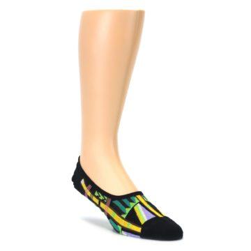 Black Gold Tribal Patterned Mens No-Show Sock