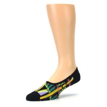 Image of Black Gold Tribal Patterned Mens No-Show Sock (side-2-09)