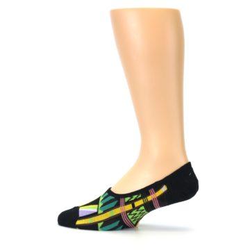 Image of Black Gold Tribal Patterned Mens No-Show Sock (side-2-12)