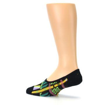 Image of Black Gold Tribal Patterned Mens No-Show Sock (side-2-13)
