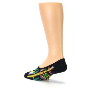 Image of Black Gold Tribal Patterned Mens No-Show Sock (side-2-back-14)