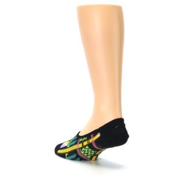 Image of Black Gold Tribal Patterned Mens No-Show Sock (side-2-back-15)