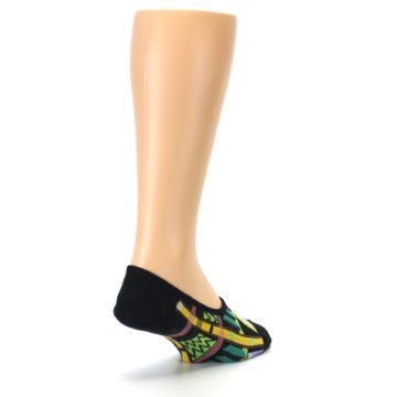 Image of Black Gold Tribal Patterned Mens No-Show Sock (side-1-back-21)